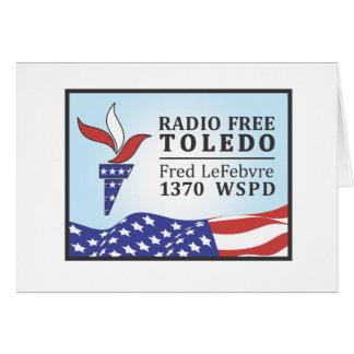 Fred libre de radio tarjeta de felicitación