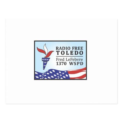 Fred libre de radio tarjetas postales