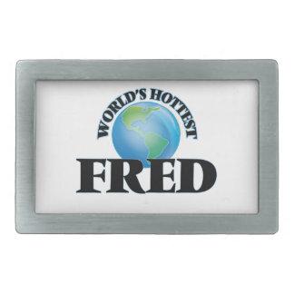 Fred más caliente del mundo hebillas de cinturón rectangulares