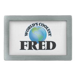 Fred más fresco del mundo hebillas de cinturon rectangulares