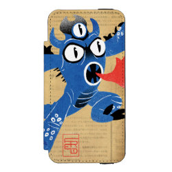 Incipio Watson™ iPhone 5/5s Wallet Case with Fred Monster Stylized design