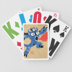 Playing Cards with Fred Monster Stylized design