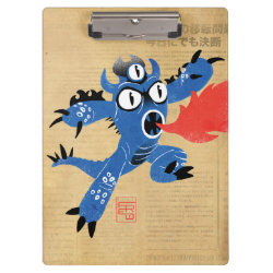 Clipboard with Fred Monster Stylized design