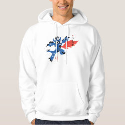 Men's Basic Hooded Sweatshirt with Fred Monster Stylized design
