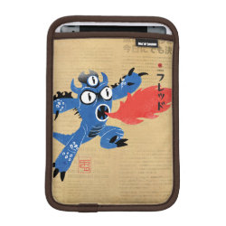iPad Mini Sleeve with Fred Monster Stylized design