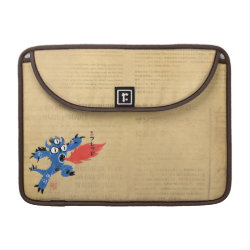 Macbook Pro 13' Flap Sleeve with Fred Monster Stylized design