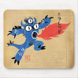Mousepad with Fred Monster Stylized design