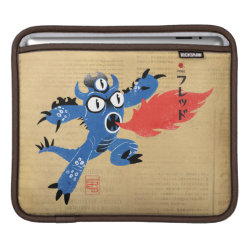 iPad Sleeve with Fred Monster Stylized design