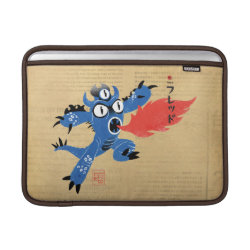 Macbook Air Sleeve with Fred Monster Stylized design