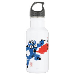 Water Bottle (24 oz) with Fred Monster Stylized design