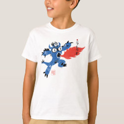 Kids' Hanes TAGLESS® T-Shirt with Fred Monster Stylized design