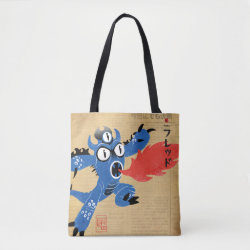 All-Over-Print Tote Bag, Medium with Fred Monster Stylized design