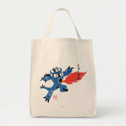 Grocery Tote with Fred Monster Stylized design