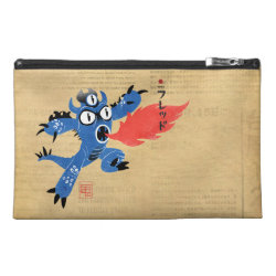 Travel Accessory Bag with Fred Monster Stylized design
