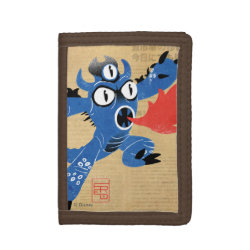 TriFold Nylon Wallet with Fred Monster Stylized design