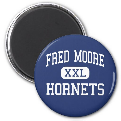 Fred Moore Hornets Middle Anoka Minnesota 2 Inch Round Magnet