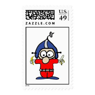 Fred Pinsocket Spaceman Postage Stamp