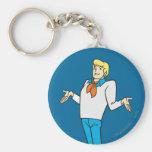 Fred Pose 18 Basic Round Button Keychain