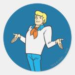 Fred Pose 18 Classic Round Sticker