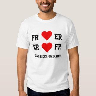 Fred Ricci para el alcalde-- camisa del corazón