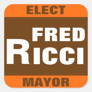 Fred Ricci para el pegatina del alcalde