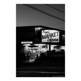 Fred s Market Poster