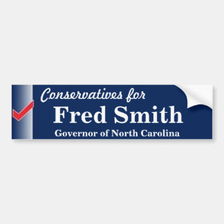 Fred Smith para el gobernador Pegatina Para Auto