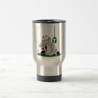 Fred the asked and his Friends Travel Mug