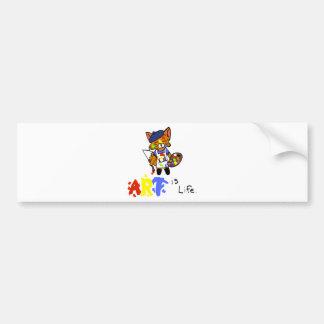 Fred the Fox- Artist Bumper Stickers