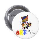 Fred the Fox- Artist Button