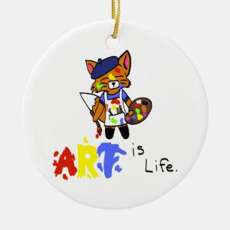 Fred the Fox- Artist Ceramic Ornament