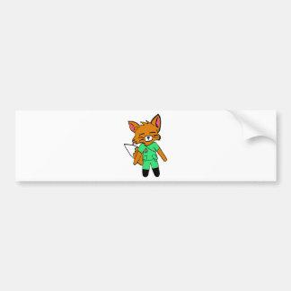 Fred the Fox- Nurse Bumper Stickers