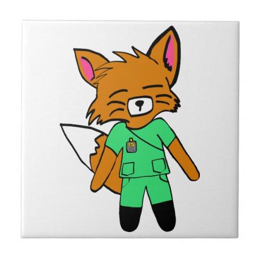 Fred the Fox- Nurse Ceramic Tiles