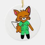 Fred the Fox- Nurse Christmas Tree Ornament