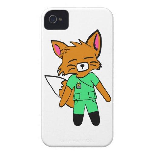 Fred the Fox- Nurse iPhone 4 Case-Mate Case