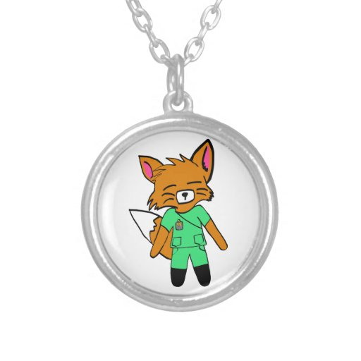 Fred the Fox- Nurse Necklace