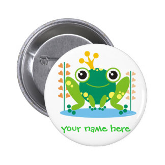 fred the froggy 2 inch round button