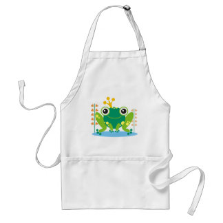 fred the froggy adult apron