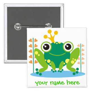 fred the froggy pinback buttons