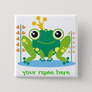 fred the froggy pinback button