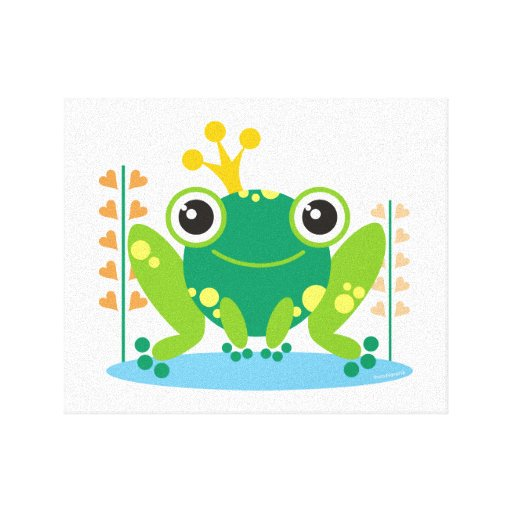 Fred the Froggy Stretched Canvas Print Wall Art