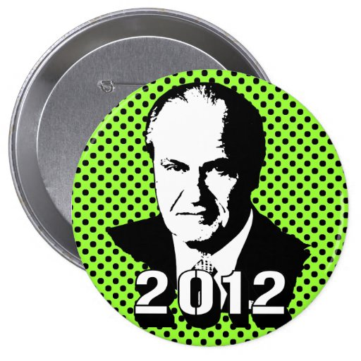 Fred Thompson 2012 4 Inch Round Button