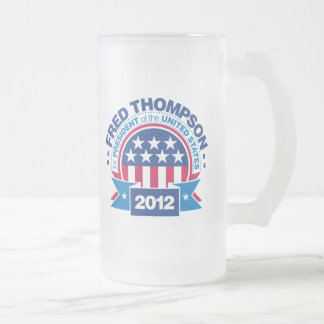 Fred Thompson for President 2012 16 Oz Frosted Glass Beer Mug