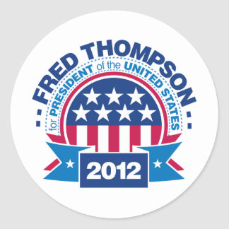 Fred Thompson for President 2012 Classic Round Sticker