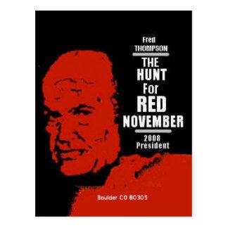 Fred Thompson HUNT FOR RED NOVEMBER Postcard