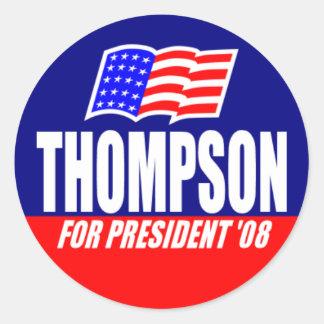 Fred Thompson para el presidente 08 pegatina