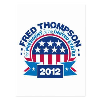 Fred Thompson para el presidente 2012 Postales