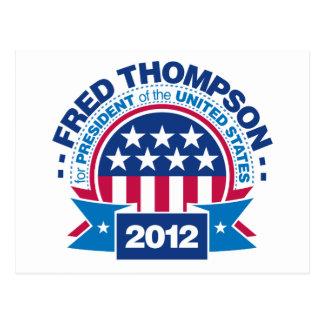 Fred Thompson para el presidente 2012 Postal