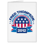 Fred Thompson para el presidente 2012 Tarjetas