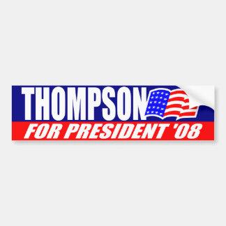 Fred Thompson para el presidente pegatina para el  Pegatina Para Auto